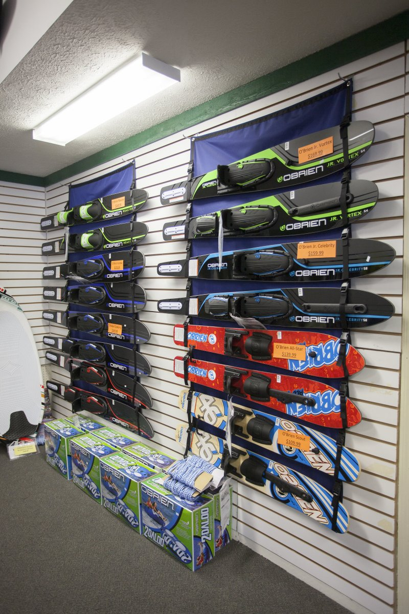O'Brien skis and tubes